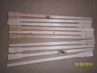 """10 X WOODEN 12"""" TWIST ON PERCHES FOR CAGE & AVIARY BIRDS"""
