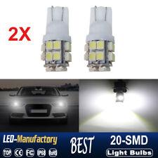 2PCS T10 194 168 2825 W5W 20-SMD LED Super Bright Car Wedge Light Bar Bulb White