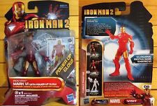 NUOVO Marvel Iron Man 2 Movie Series Mark VI luce led (batteria inclusa) Hasbro
