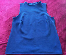 BNWT MARKS AND SPENCER COBALT BLUE TEXTURED SLEEVELESS TOP BLOUSE SIZE 18 ♡♡♡