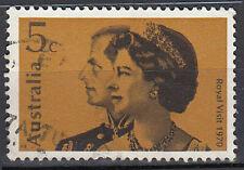Australien gestempelt 5c Königlicher Besuch 1970 Königin Elisabeth König / 1653