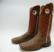 MENS ANDERSON BEAN BROWN LEATHER BUCKAROO HORSE POWER HP1028 COWBOY BOOTS SZ 5 D