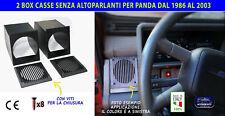 Kit casse panda 4x4 supporti cassa stereo audio autoradio set box per fiat auto
