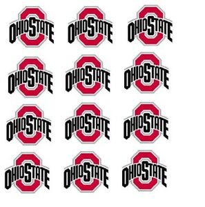 """Ohio State Buckeyes Cupcake Toppers Edible Image 2"""" Frosting Circles"""