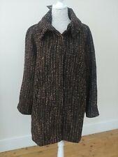 Ladies Winter Coat Size 14 Brown & Black By Kaleidoscope New