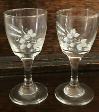 2 SMALL GLASSES IN EXCELLENT CONDITION ALL  PROCEEDS TO CHARITY