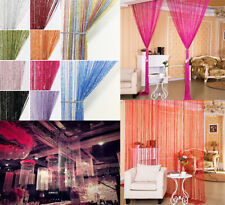 String Door Window Curtain Beads Room Divider Crystal Tassel Fringe Beaded Panel