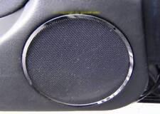 D BMW E46 Chrom Lautsprecherringe für Türlautsprecher - Edelstahl poliert Typ1