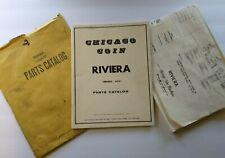 Chicago Coin Riviera Pinball Machine Parts Manual Schematic Lot Original 1972