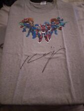 Mega Man 20th anniversary T-shirt signed by Keiji Inafune XL