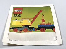 LEGO Vintage 134-1 Mobile Crane And Wagon Trains 1975 INSTRUCTIONS ONLY