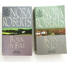 Nora Roberts Born In Books 1 and 2 Born In Fire Born In Ice Romance Paperback