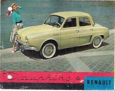 Renault Dauphine 1957-58 UK Market Small Format Foldout Sales Brochure
