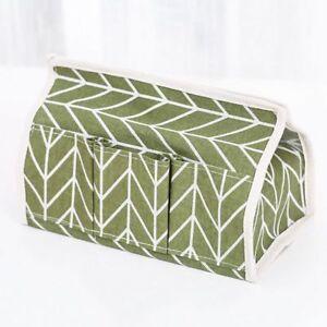 Tissue Box Cotton Linen Art Designed Napkin Holder Cover For Room Organizer Case