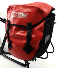 AAWYEAH WATERPROOF BICYCLE TOURING/SHOPPING PANNIER BAG, RED