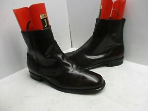 Black Cherry Leather Zip Ankle Boots Mens Size 13 D Style 986 USA