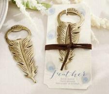 New! Vintage Gold Feather Bottle Opener Bridal Shower Wedding Favors
