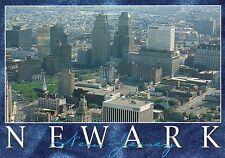 Aerial View of Newark, New Jersey, Broad Street, Military Park, NJ --- Postcard