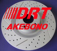 BMW 540i 530i Drilled Slotted Rotors Akebono Ceramic Pads Wear Sensor Frt