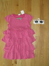 GIRL Gymboree TULIP POLKA DOTS PINK DRESS & SUNGLASSES set NWT 4