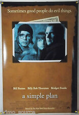 A SIMPLE PLAN DS ROLLED ORIG 1SH MOVIE POSTER SAM RAIMI BILLY BOB THORNTON(1998)