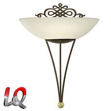 Wandlampe Wandleuchte Lampe Leuchte antik-braun Glas rost EEK A++ bis E