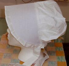 Amish Style Fabric Bonnet (Sizes S, M, L, XL, & Infant)