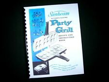 Sunbeam Party Grill Appetizer Snack Maker Instructions Manual Recipes