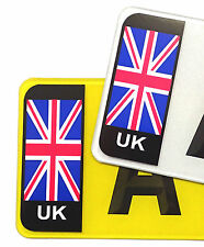 PAIR Union Jack UK British Flag Vinyl Stickers For Std Car Number Plate Brexit