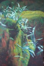 "Original oil painting Judy Ford ""Natural Beauty, Marysville"" landscape fern moss"