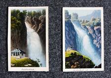 1870 Schweiz Berner Oberland Kandertal Reichenbach kolorierte Aquatina-Ansichten