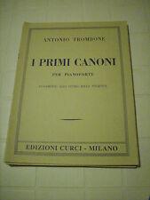 TROMBONE I PRIMI CANONI PER PIANOFORTE