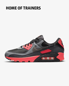 Nike Air Max 90 Black Smoke Grey Dark Smoke Grey Iron Men's Trainers All Sizes