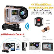 "2"" Dual Screen LCD Ultra HD 4K Wifi Sports Action Camera 12MP Waterproof DVR Cam"