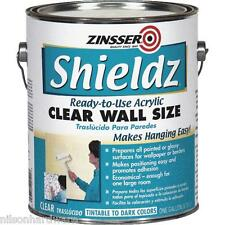 4 Gal Zinsser Shieldz Clear Wall Size Sizing  Acrylic Wallpaper Primer Z2101