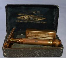 Vintage 1930 Gillette The New Safety Razor Long Comb with Orig. Box/blade holder