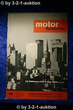 Motor Rundschau 15/63 Opel Rekord 1,5 Liter Glas 1204 Kfz Werkstatt 1963