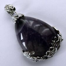 Silver Plated Pear Amethyst Costume Necklaces & Pendants