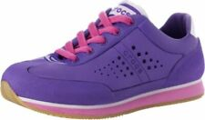 Crocs Retro Molded Sneaker GS Youth Size J3 Purple Pink Lace Relaxed Fit Comfort