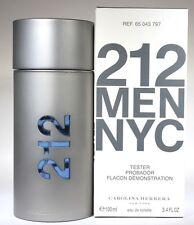 212 MEN BY CAROLINA HERRERA 3.4/3.3OZ EDT SPRAY TSTR FOR MEN NEW IN TSTR BOX