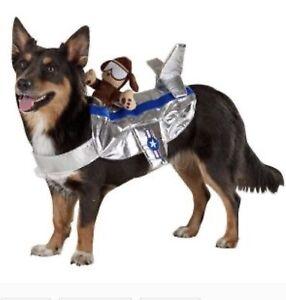 Top Paw Dog Rider Bomber Pilot Custom Pet Halloween Costume Sz L/XL