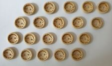 20 Handmade With Love Wooden Buttons Size 15mm