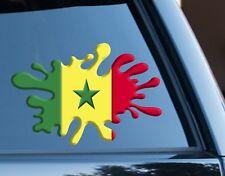 Senegal Bandera Splat Diversión Decal Sticker Coche, Furgoneta, Ordenador Portátil, puertas de la Copa del Mundo 2018