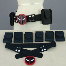 X-Men Superhero Deadpool Unisex Belt Costume Cosplay Props Halloween Decoration