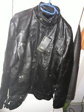 neue schwarze PU Lederjacke in xl