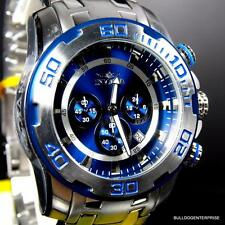 Mens Invicta Pro Diver Scuba II 50mm Chronograph Stainless Steel Blue Watch New