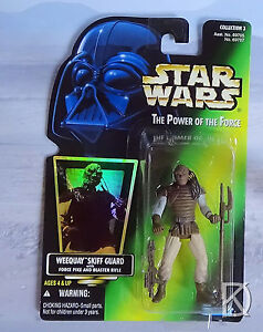 Weequay Skiff Guard Unopened Star Wars POTF2 1996 Halogram Green card - N Mint C