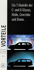 Mercedes C E Klasse T-Modell Vorteile Maße Gewichte Daten Prospekt 3/96 1996 Pkw