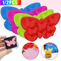 1/2PCS 3D Butterfly Silicone Mold Candy Chocolate Soap Craft Decor Making Mould