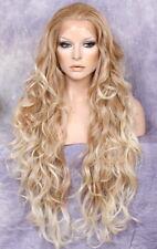 36 Long Stunning Full Lace Front Wig Delicate open curls Waves Heat OK T27-613